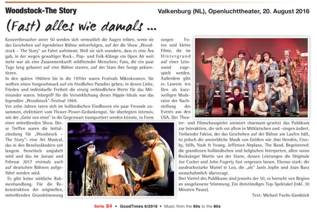 Recensie Woodstock the Story Good Times Magazine november 2016
